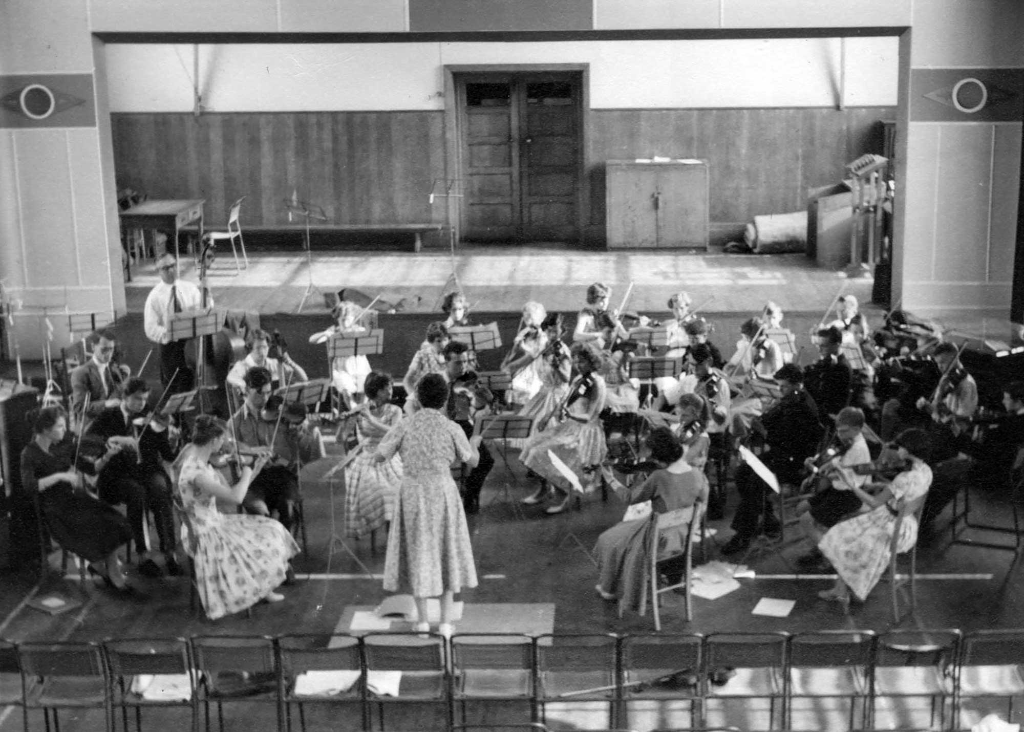 Orchestra in the Assembly Hall