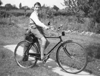 Clive Strutt on his bike